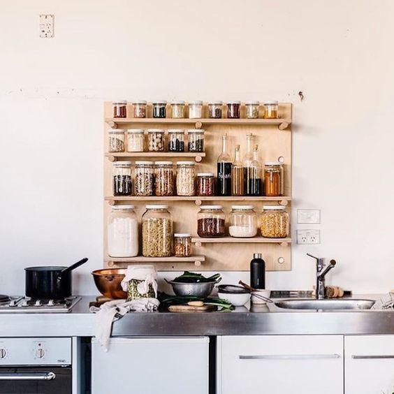 ideia organização cozinha
