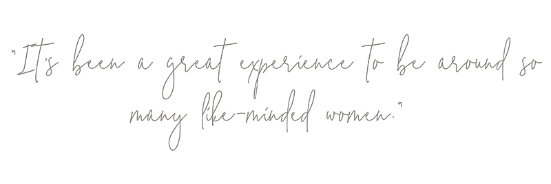 """""""It's been a great experience to be around so many like-minded women."""" Quote from Those Plant Ladies at the Hickory House landscape installation."""