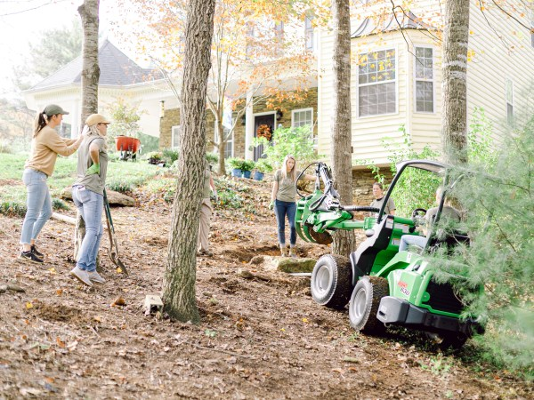 Those Plant Ladies using the Avant Loader 630 on a jobsite.