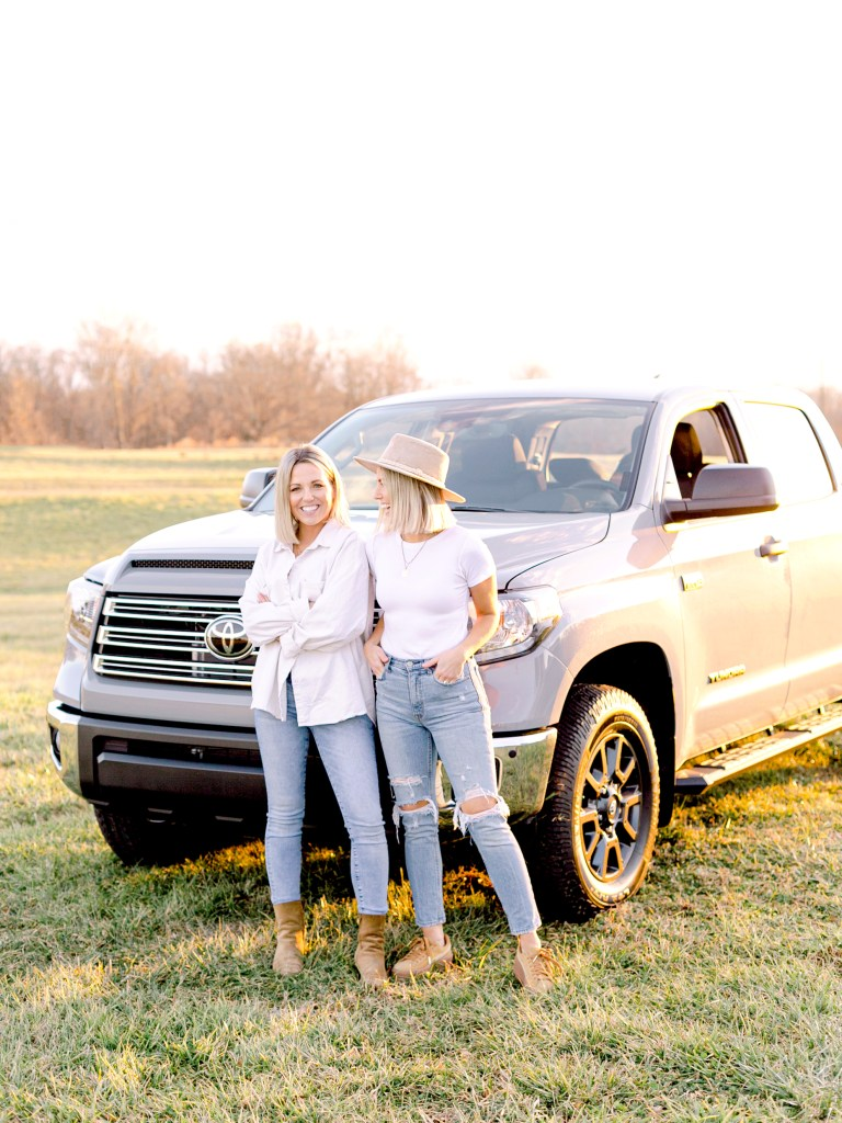 Fawn and Heather of Those Plant Ladies with their new truck from Mike Johnson's Hickory Toyota.
