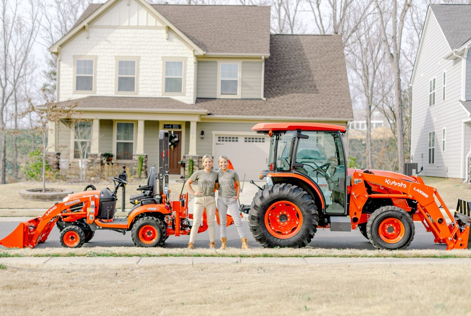 Fawn and Heather of Those Plant Ladies with both Kubota tractors in Charlotte, NC.