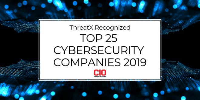 Top 25 Cybersecurity Companies 2019