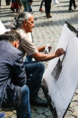 Maler auf dem Grote Markt