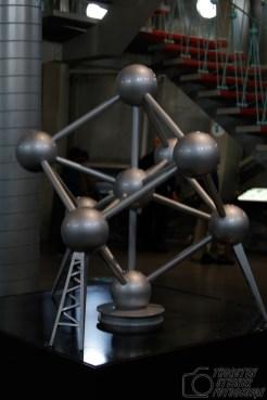 Model des Atomium im Atomium