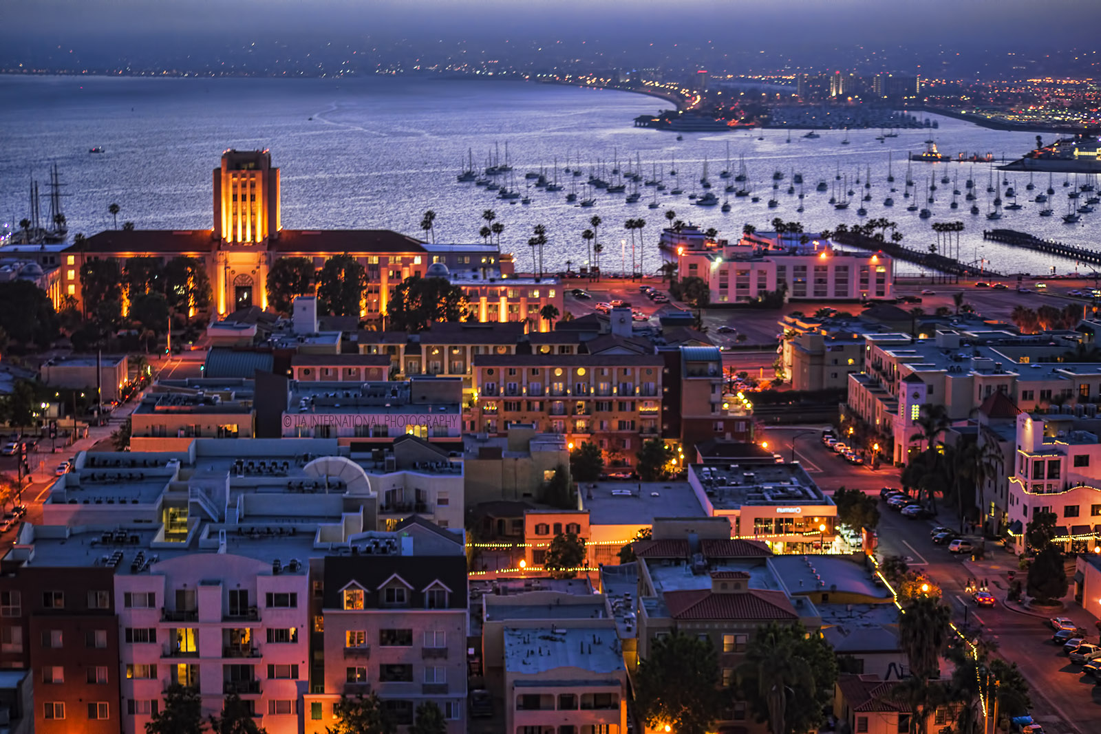 Little Italy District & San Diego Bay