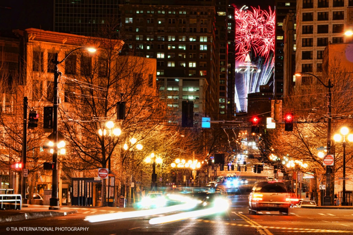 Seattle Welcomes the Year 2012