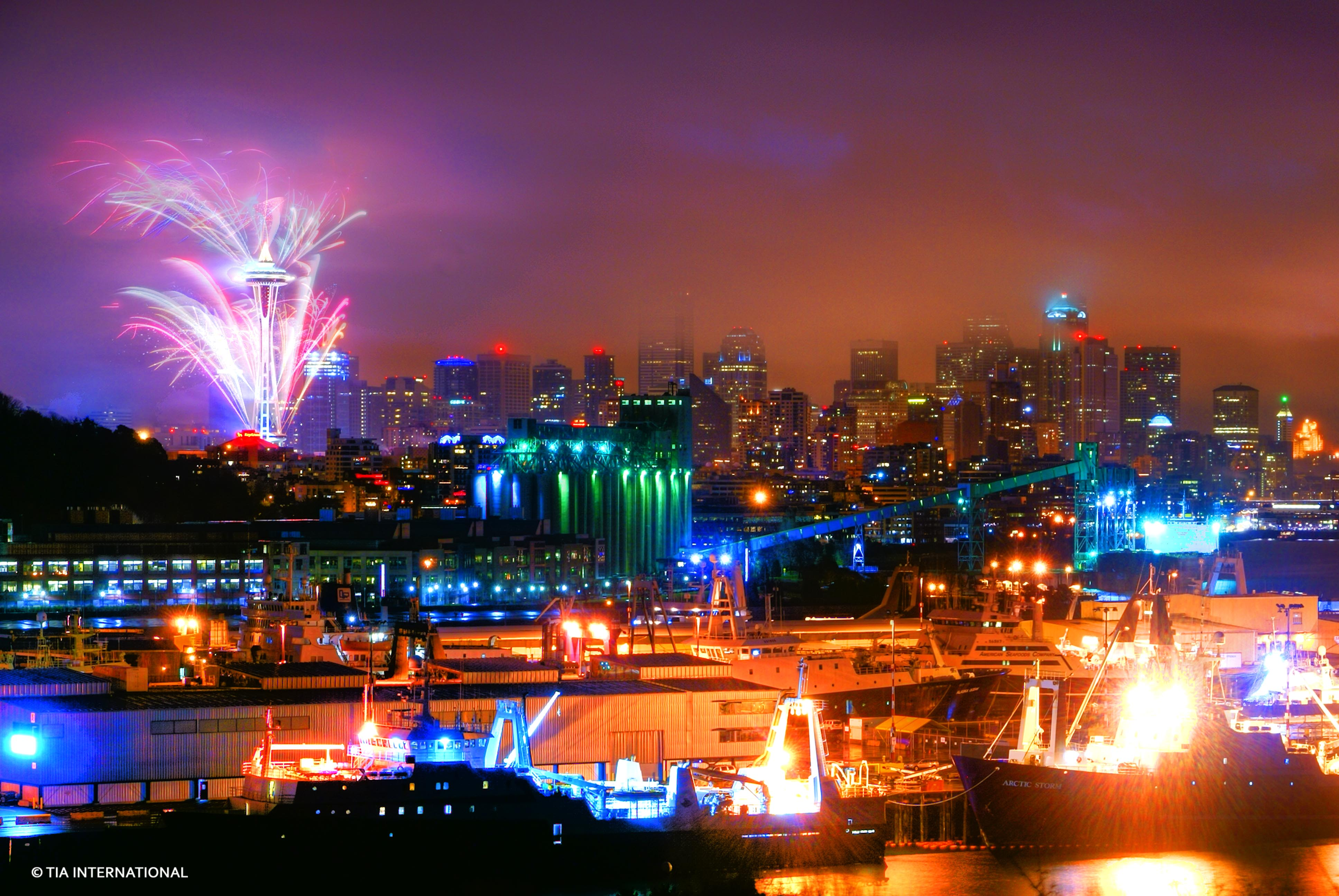 Seattle Welcomes the Year 2010