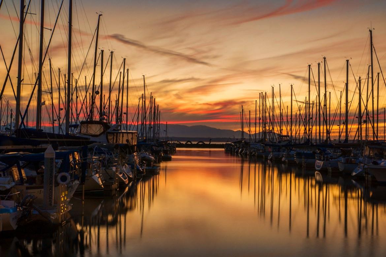 Sunset at Shilshole Bay Marina / Ballard, Seattle / August 2020