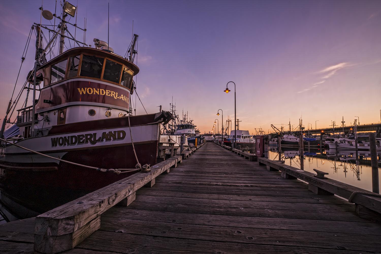 Pier at Fishermen's Terminal, Seattle.