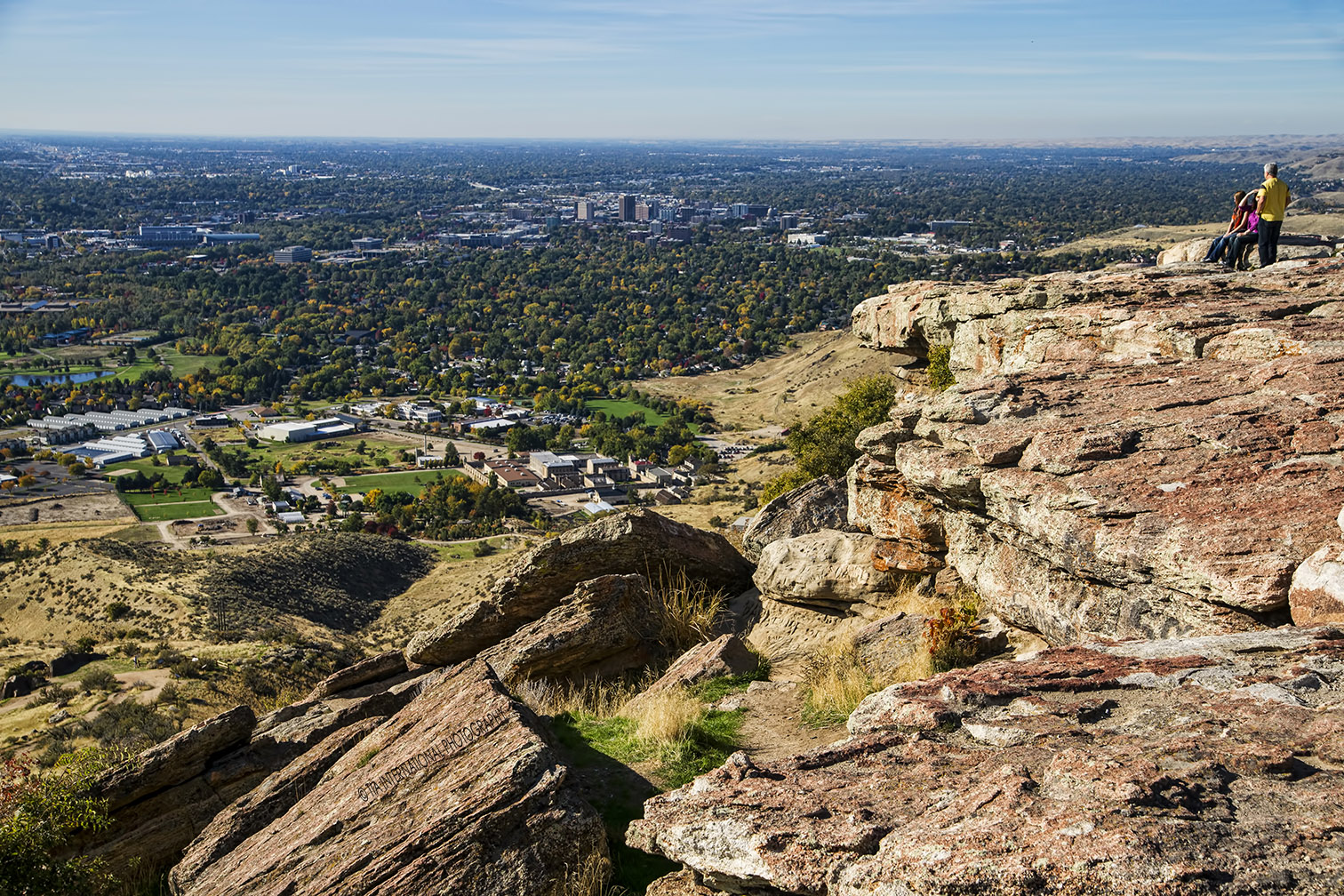 Vista of the City of Boise & Treasure Valley from Table Rock.