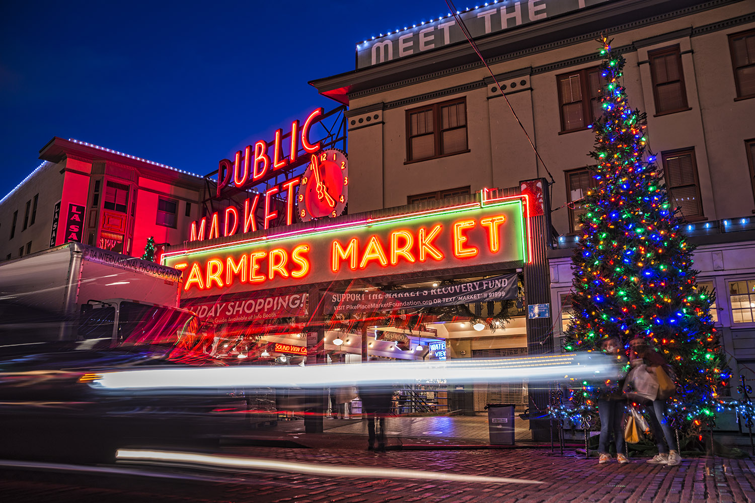 Pike Place Market, Downtown Seattle. (December 17, 2020).