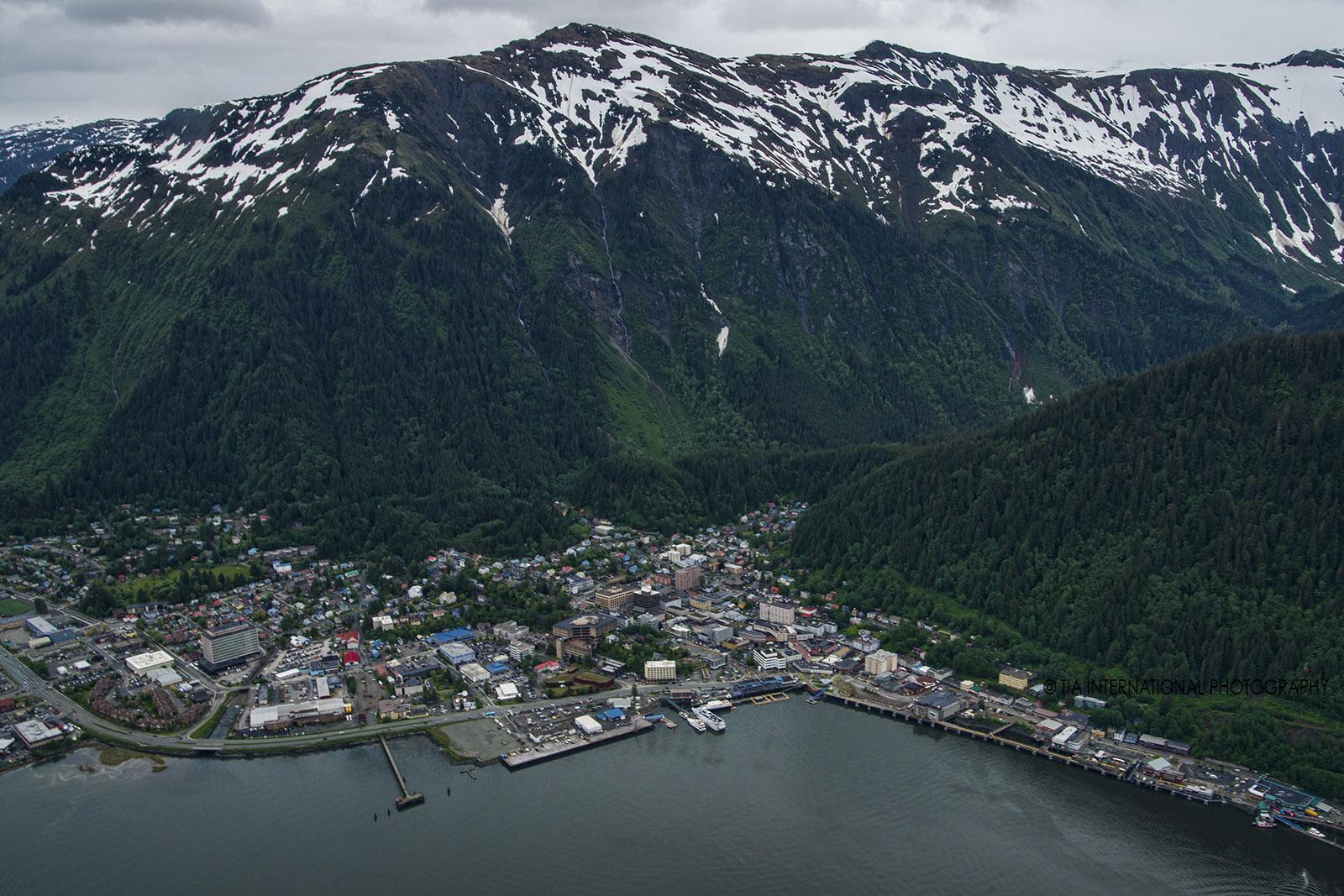 Aerial view of Juneau, Alaska.