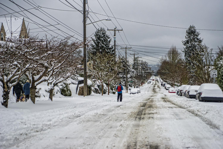 28th Avenue West, Magnolia, Seattle (February 13, 2021).