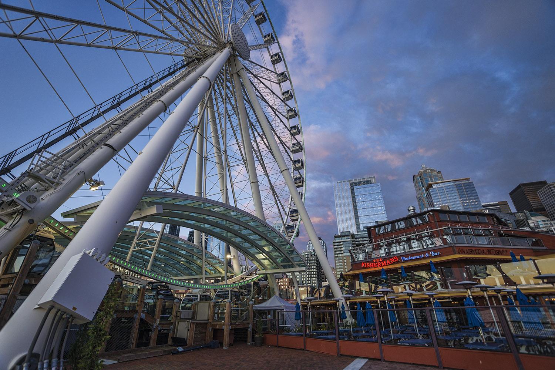 Seattle Great Wheel and Fisherman's Restaurant & Bar @ Pier 57.