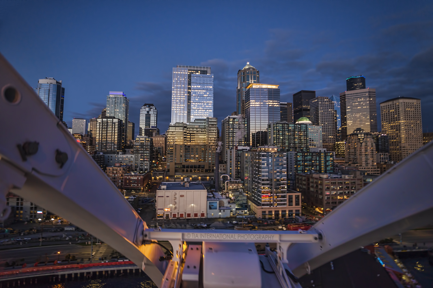 Downtown Seattle skyline from the Great Wheel.