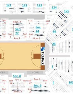 At   center seating chart with seat numbers also san antonio spurs tickpick rh blog