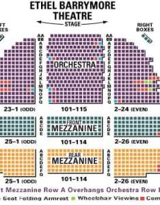 Barrymore theater detailed seating chart also theatre the band   visit guide tickpick rh blog