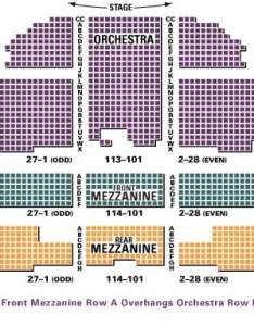 Detailed richard rodgers seating chart with seat numbers also theater hamilton guide rh blog tickpick