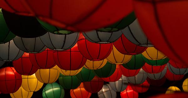 Tempat Wisata Malam di Jogja - Taman Pelangi (Taman Lampion)