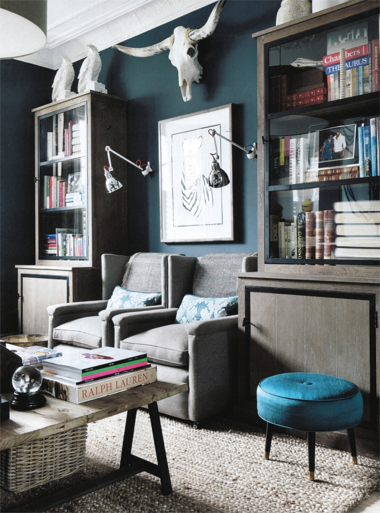 Teal Chair And Ottoman