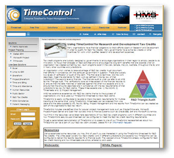 Take a look at the new TimeControl R&D Tax Credit Solution Portal