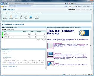 We've updated our Free Hosted TimeControl timesheet trial site