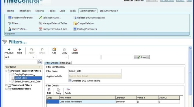 Leveraging TimeControl reports with Dynamic Filters
