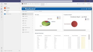 TimeControl within Microsoft Teams