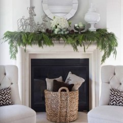 Living Room Decorating Ideas With Stone Fireplace Formal Curtains 15 Mantel For The Holidays   Artisan ...