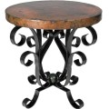 Wrought iron tables both dining occasional and accent and chairs