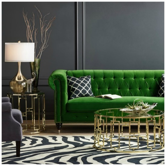 charcoal gray tufted sofa small sofas for rooms trend alert: jewel tone velvets 2017 | artisan crafted ...