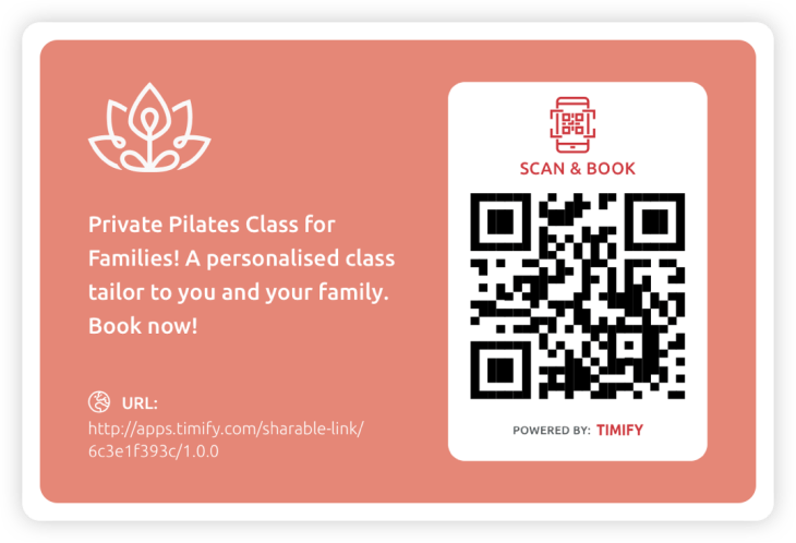 Sharing links offline with QR codes TIMIFY