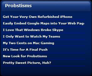 Probstisms Dashboard Widget