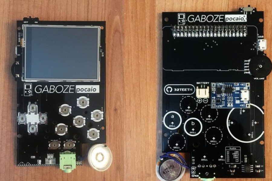 Gaboze Pocaio is a Raspberry Pi Arcade That Fits in Your Pocket