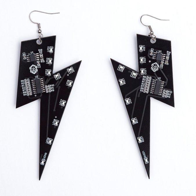 Lightning bolt shaped earrings