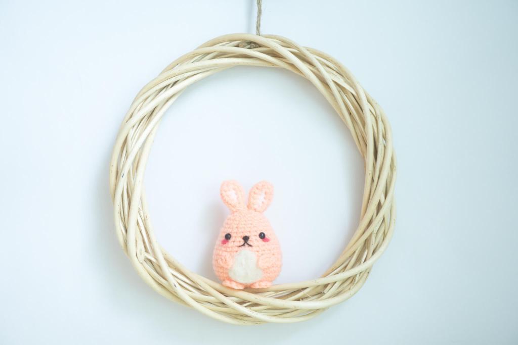 Tiny Rabbit Hole - Easter is the time to keep a Tamago Bunny! - amigurumi bunny - cute crocheted animals - kawaii bunny