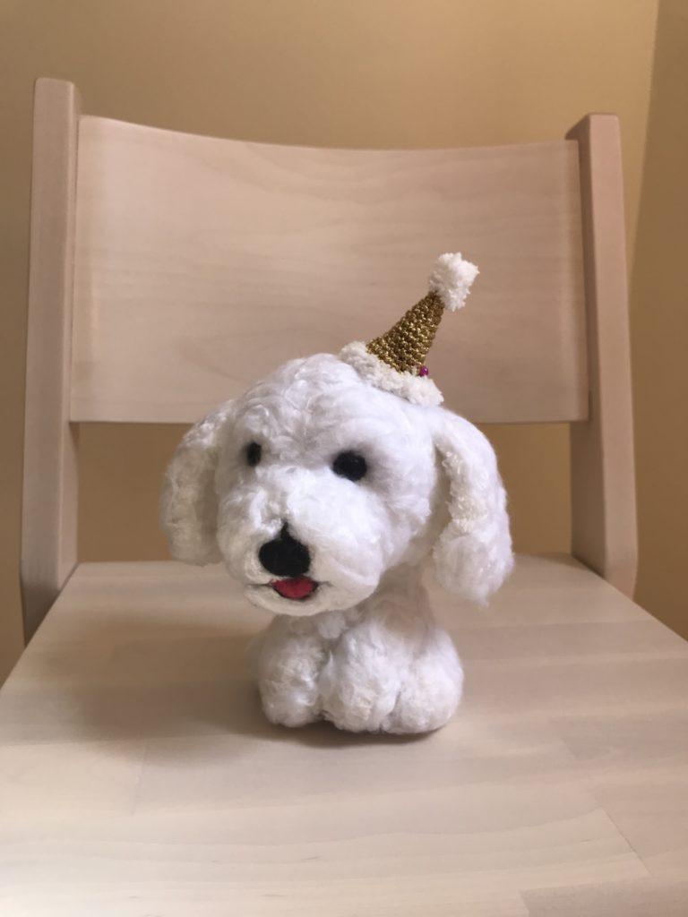 Tiny Rabbit Hole – Christmas Hat Hairpin