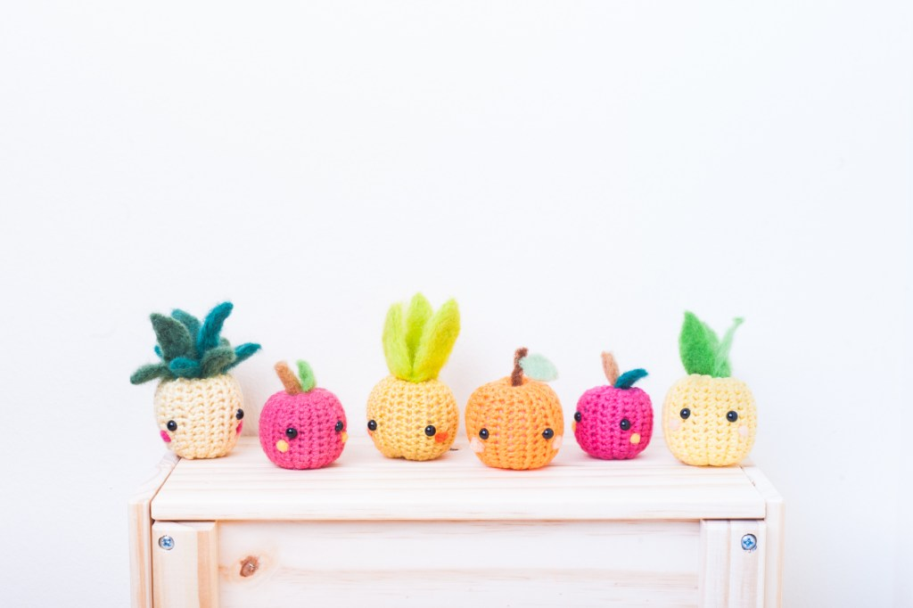 Tiny Rabbit Hole - Fruits Orange Apple Pineapple Crochet Amigurumi Workshop Beginners