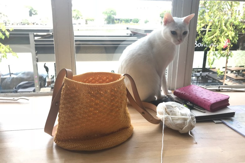 Tiny Rabbit Hole – Crochet Bag Cat Cafe Neko no Niwa Singapore
