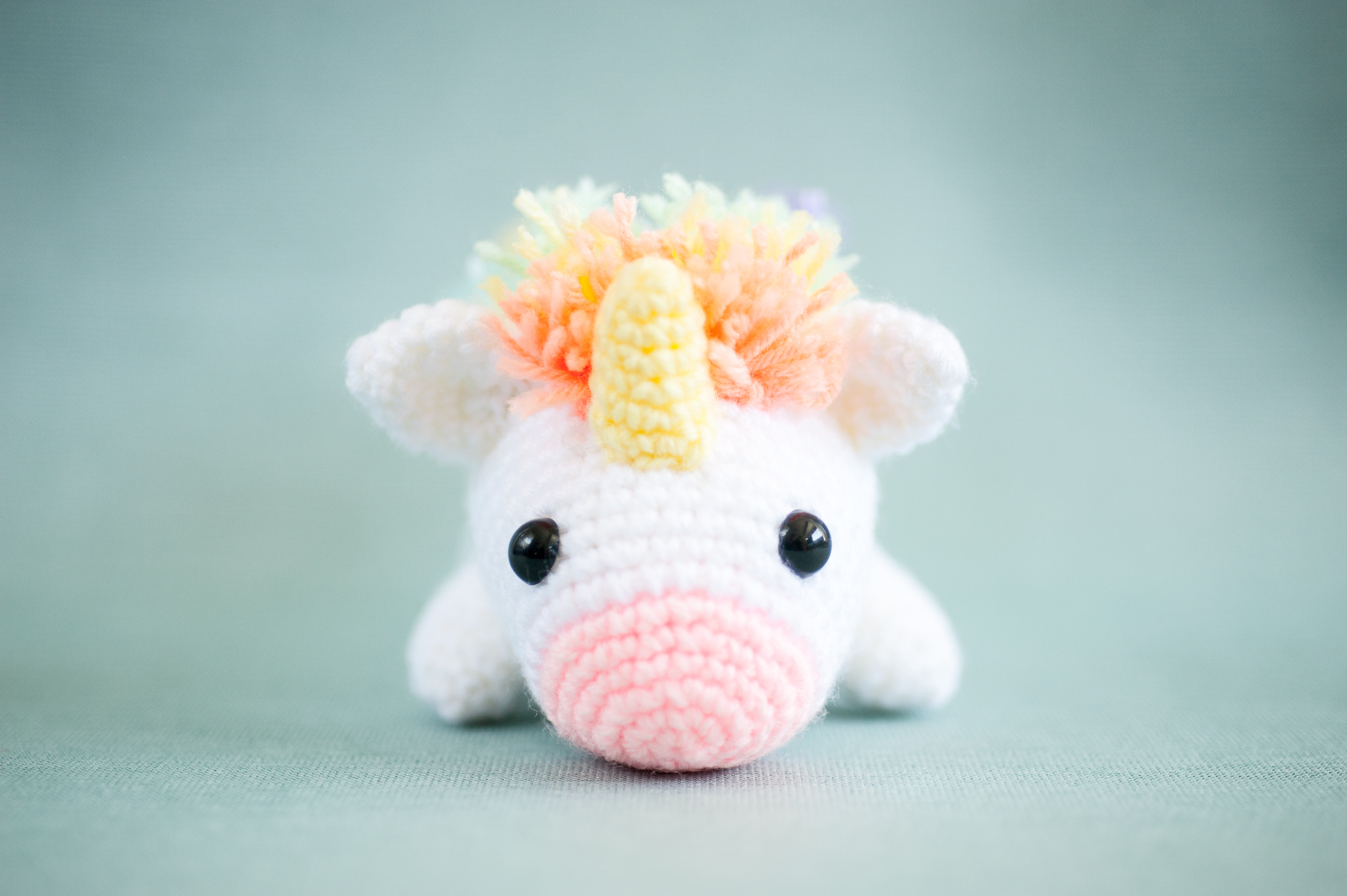 Tiny Rabbit Hole – lazy rainbow unicorn workshop singapore crochet amigurumi chinatown stuffing safety eyes hobby