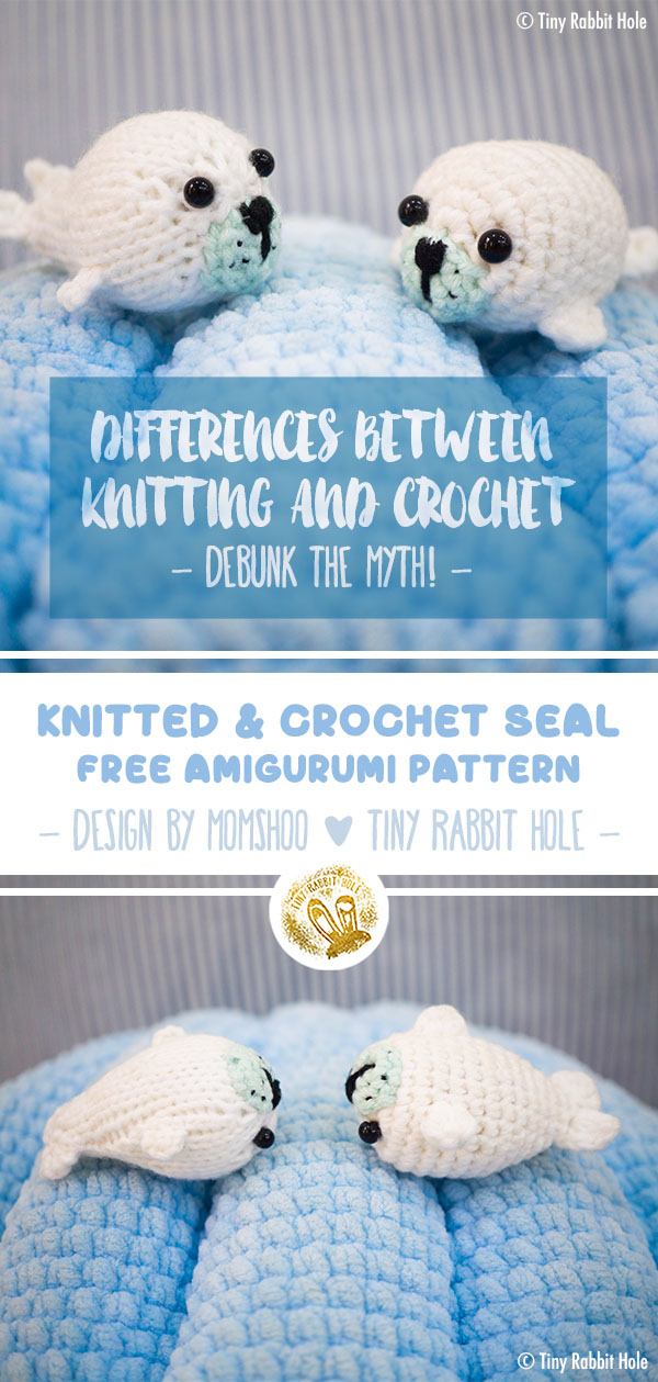 Tiny Rabbit Hole Differences between crochet and knitting