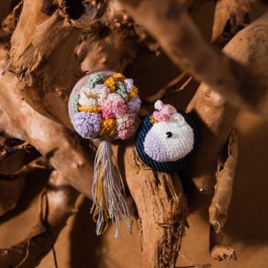 Tiny Rabbit Hole lace crochet earring unicorn amigurumi singapore handmade handcrafted craft chinatown