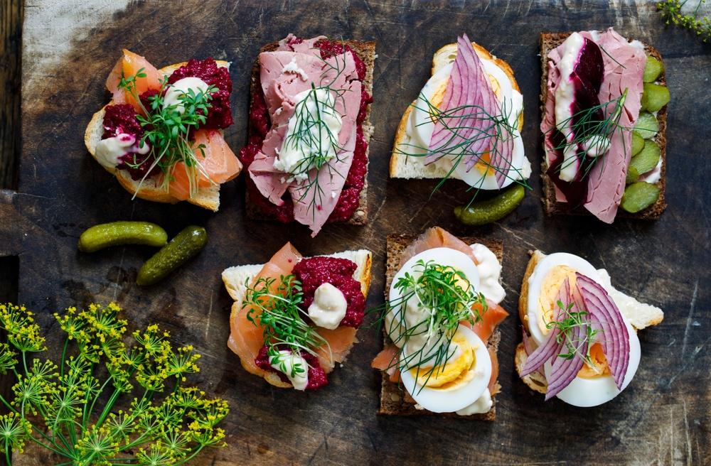 Platter of Scandinavian food