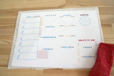 Free Printable Semainier - à imprimer et recouvrir