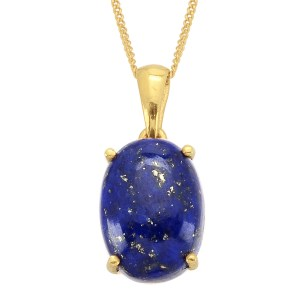 Lapis lazuli and gold necklace