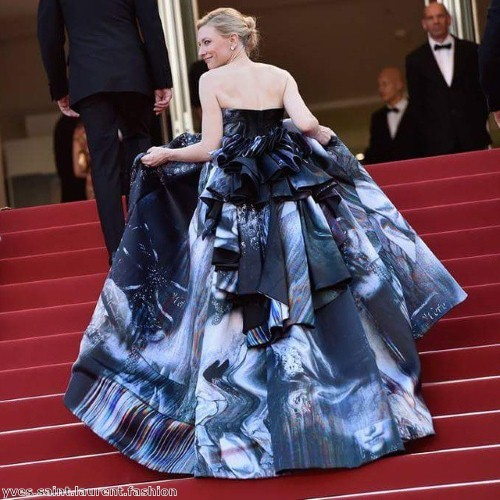 The handpainted silk dress was absolutely beautiful