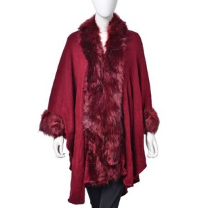 Designer Inspired Jacket with Faux Fur Edge