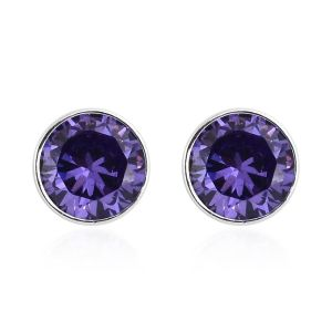 AAA Simulated Tanzanite Stud Earrings