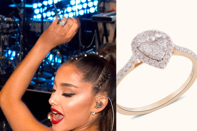 Ariana Grande engagement ring on TJC