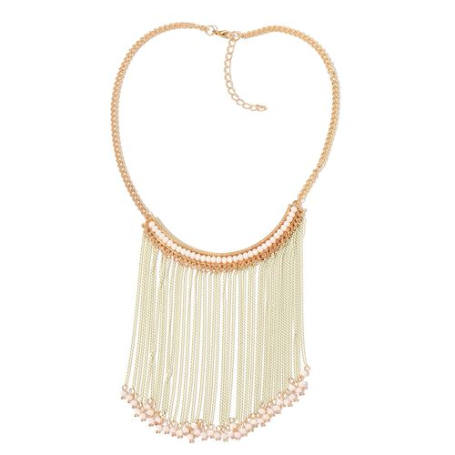 Simulated White Howlite White Colour Waterfall Necklace